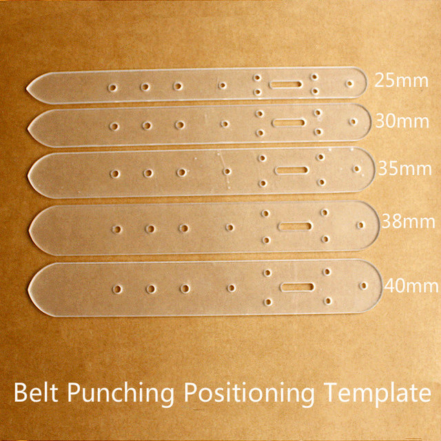 dx 13 belt punching positioning template vegetable tanned leather