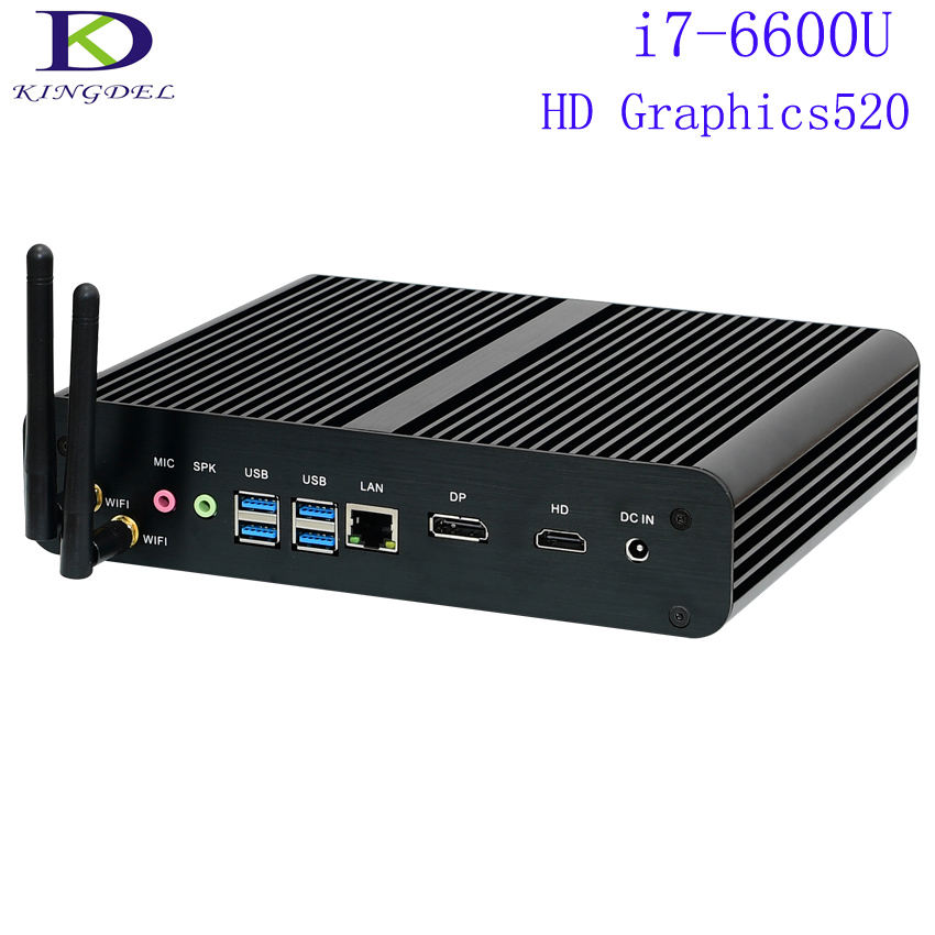 SKYLAKE Core I7-6600U,Intel HD Graphics 520,Micro PC,Mini Desktop PC,Strong NUC,TV Box,4K,HDMI+DP,Win10,WiFi,3 Years Warranty