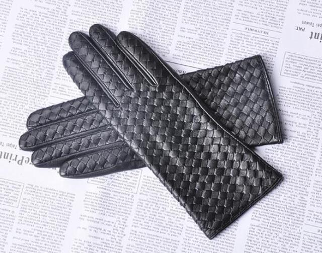 Knitted Genuine Leather...