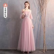 Long Bridesmaid Dresses Mismatched Pink Cheap Bohemian Maid