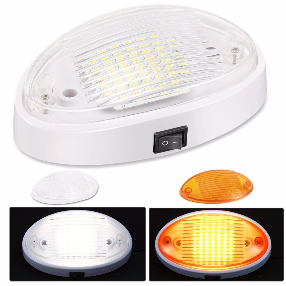 Kohree 3 6w 12v Car Ceiling Led Light Trailer Rv Camper Exterior Porch Lights Fixture Lighting With Switch 360lm White Base In Outdoor Wall Lamps From