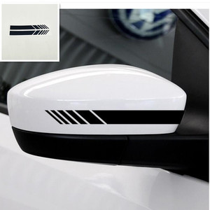 2pcs Car Styling Rear View Mirror Stickers for mitsubishi outlander 3 opel volvo xc90 peugeot 308 daewoo nexia(China)