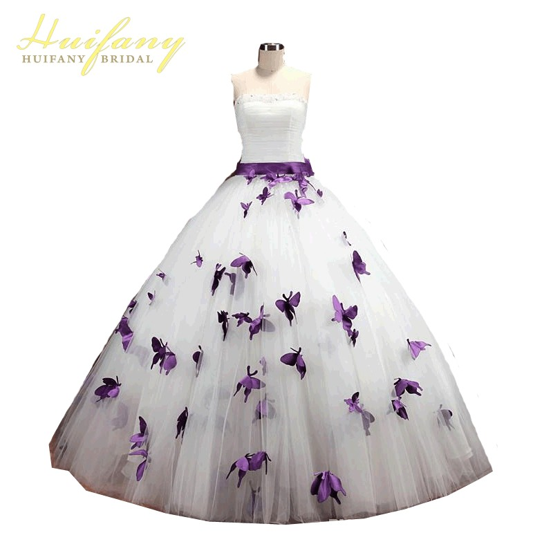 Buy princess wedding dresses purple and for Butterfly back wedding dress
