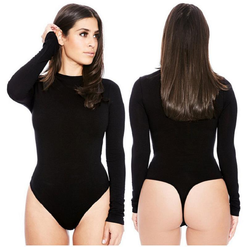 Women's black, v-neck & lace-up bodysuits are comfortable. They're a no-brainer to wear, and hassle-free. Whichever fit you prefer, thong bodysuit or regular, you'll .