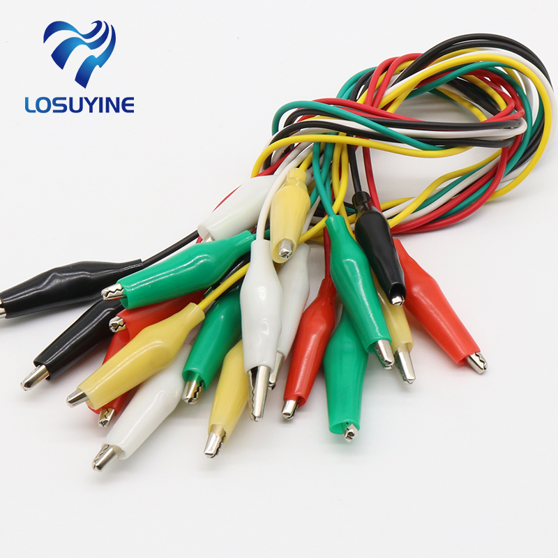 Brand New 10pcs Alligator Clips Electrical DIY Test Leads Alligator Double-ended Crocodile Clips Roach Clip Test Jumper Wire