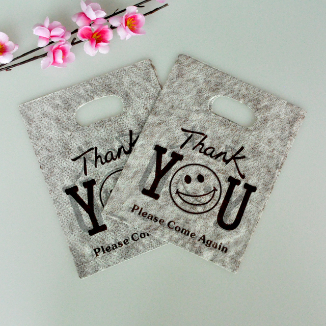 1520cm 100pcslot small plastic bag Thank You design coffee