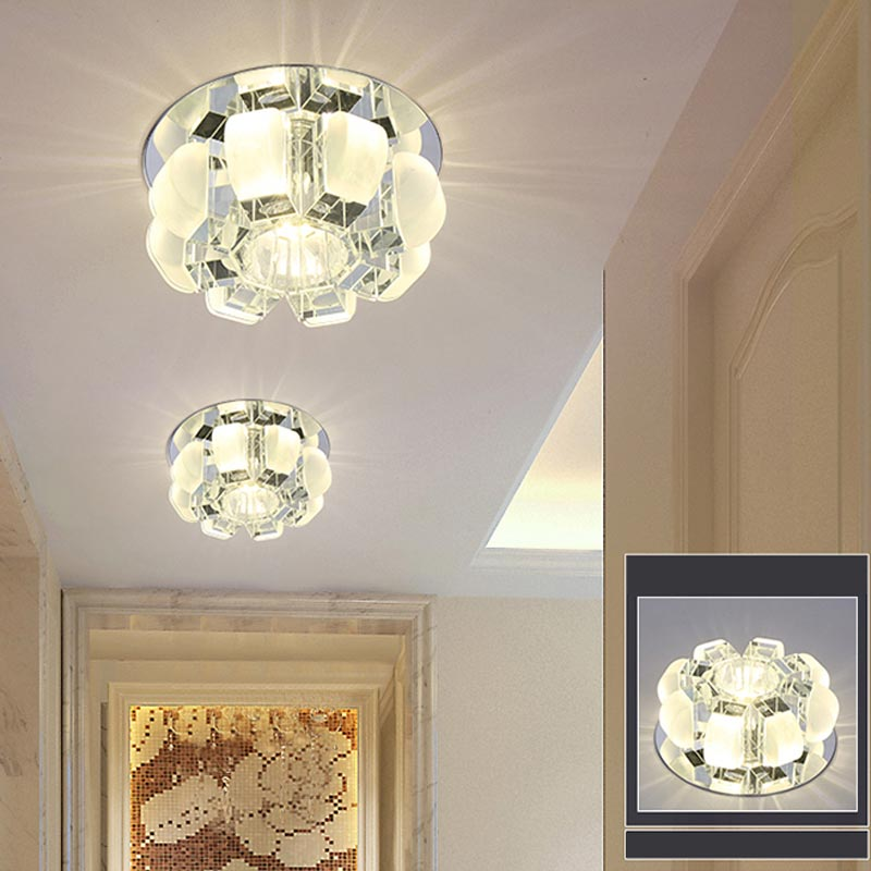 modern 5w 3w led crystal ceiling light fixtures living room stair aisle lamp yellow clear brown. Black Bedroom Furniture Sets. Home Design Ideas