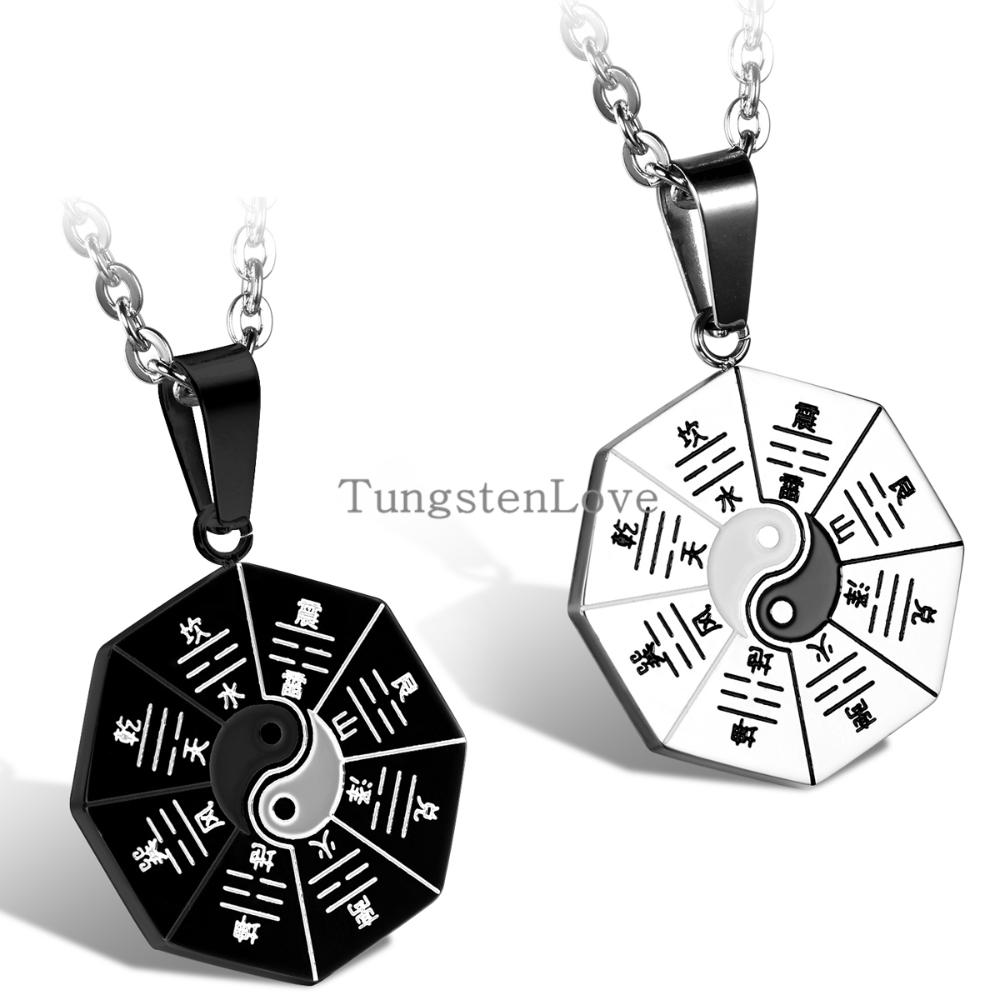 2015 hot chinese mystical yin yang pendant necklace stainless steel 2015 hot chinese mystical yin yang pendant necklace stainless steel necklaces bagua pendant new fashion men jewelry 2 colors in pendant necklaces from aloadofball Images
