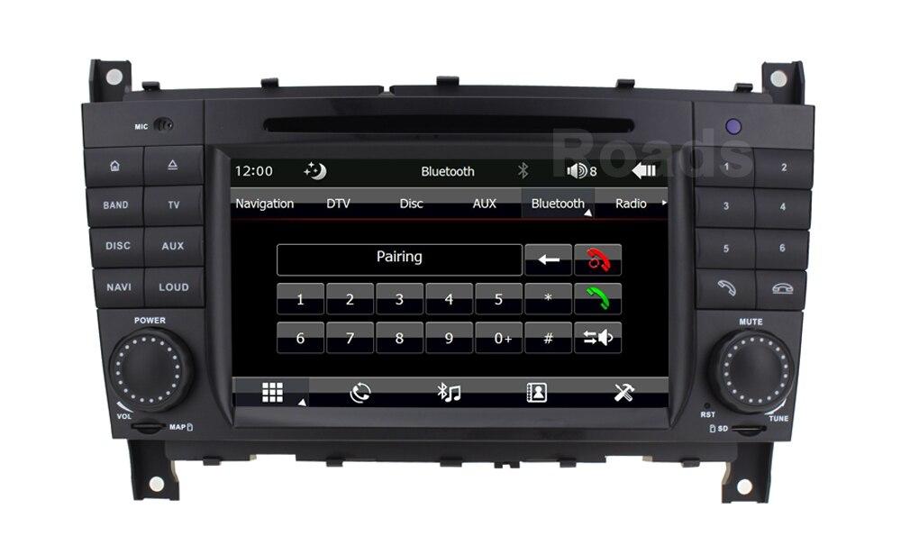 Original UI Car DVD Player Radio for Mercedes/Benz W203 W219 C180 C200 C220 C300 C320 C350 CLK270 CLK240 with Canbus GPS BT