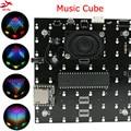 Led elektronische diy kit 3D 8 mini multicolor 8x8x8 mp3 musik licht cubeeds kit integrierte musik spektrum