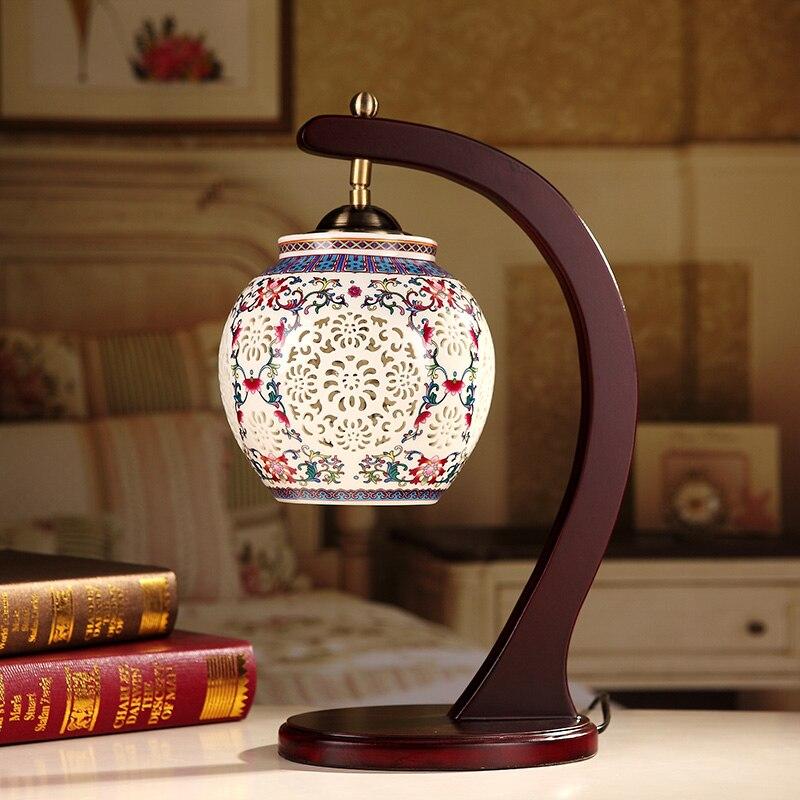 Китайская настольная лампа для отеля Керамическая Настольная Лампа