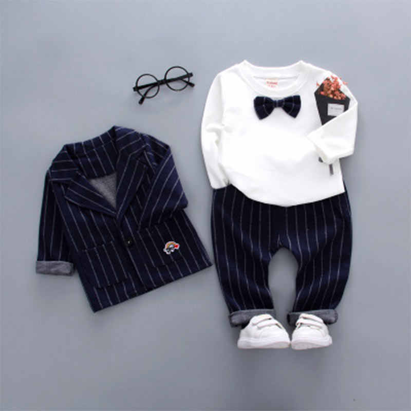 Детская Весенняя хлопковая одежда Весенний костюм для мальчиков 1-4 лет костюм с длинными рукавами