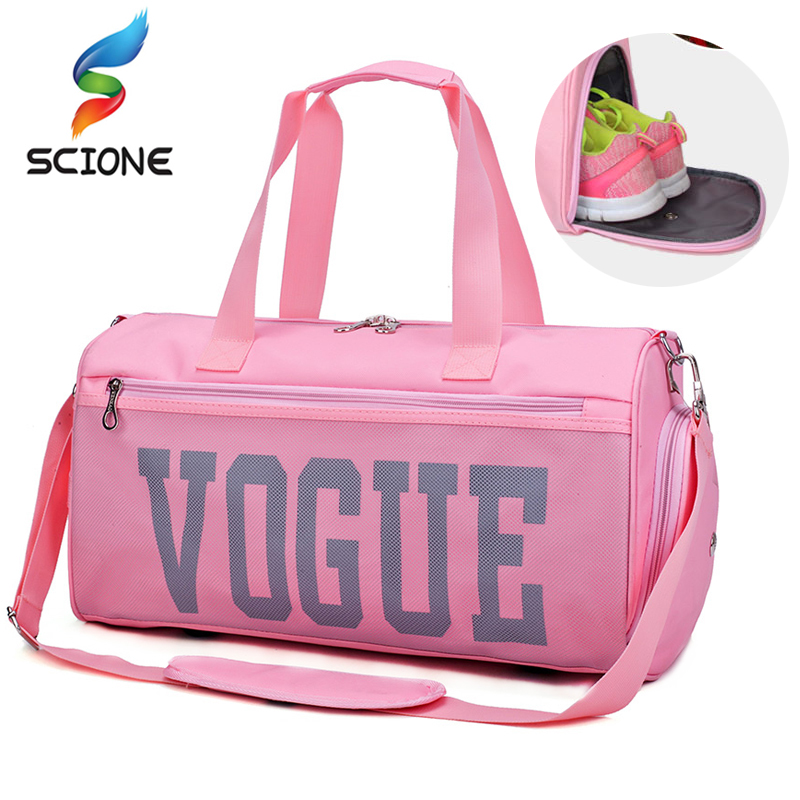 Hot Vogue Gym Sports Bags Outdoor Women Fitness Training Shoulder Bag Multi-functional Travel Yoga Handbags With shoes Warehouse