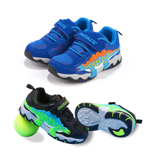 Dinoskulls Shoes for Boys 3D Dinosaur Baby Sport Trainers Mesh Breathable Jogging Children's Sneakers Autumn Tennis Sport Wear