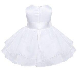 Image 3 - Vestidos de flores niñas infantil bebé niñas princesa tutú Vestido cuello perla sin mangas Vestidos para concurso de belleza, boda, fiesta Vestido