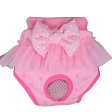 Pet Underwear Dog Puppy Diaper Pants Physiological Sanitary Bow Short Panty Nappy Pant