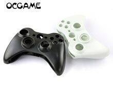 Ocgame, controle com fio xbox360, caixa de carcaça com botão cruzado e branco para joystick de xbox 360