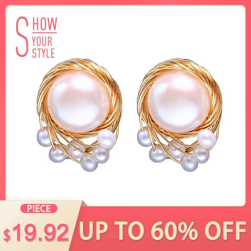311ce97b7d0a0 Detail Feedback Questions about DAIMI 8 9mm pearls Drop Earrings 925 ...