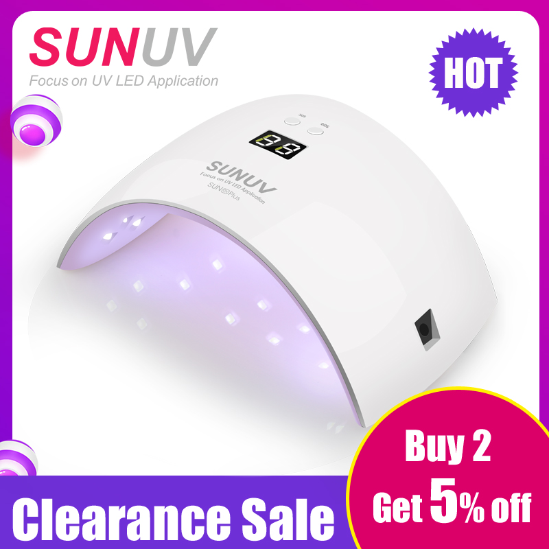 SUNUV SUN9x Plus 36W Nail Lamp UV-lampa Nail Dryer för UV Gel LED Gel Nail Machine Infraröd Sensor Timer Set