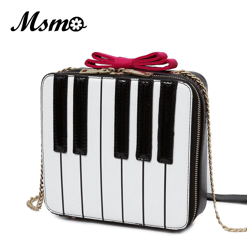 Kawaii Piano Keys Shoulder Bag Vintage Cute Bow Small Handbag Women Ladies Mobile Purse Famous Brand Messenger Crossbody Bags auau new bags women skull head shoulder crossbody small personalized messenger bag handbag hight quality vintage cute style 2017