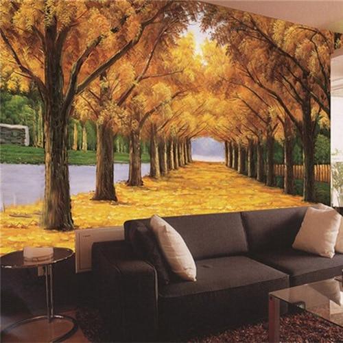 Respetuoso del medio ambiente 3d paisaje de oto o fondos for Murales en 3d para salas