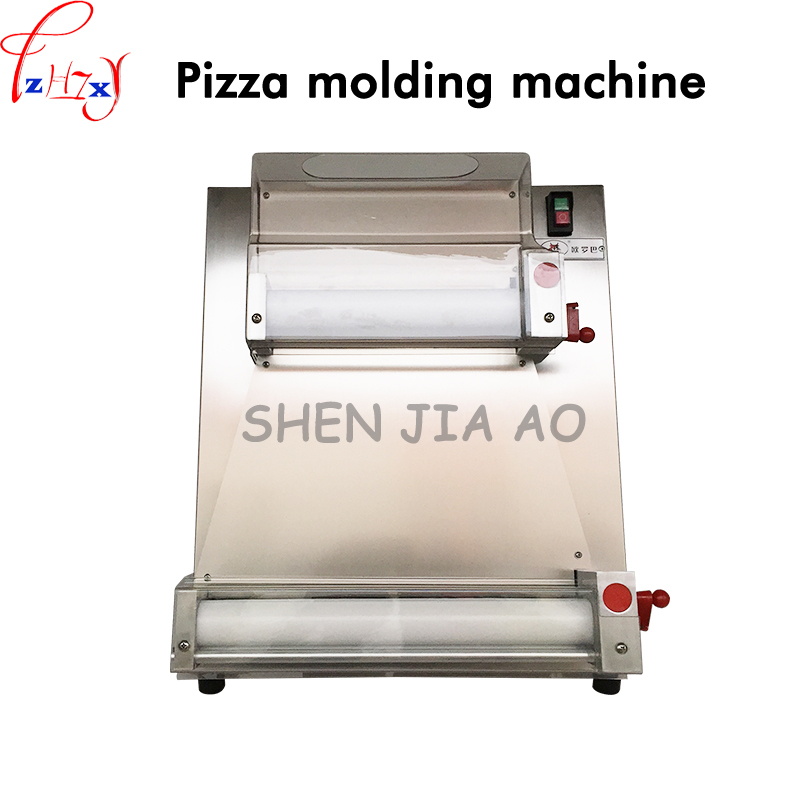 Commercial Stainless Steel Pizza Bottom Press Machine 3-15 inch Pizza Dough Machine Easy to operate 220V 370W DR-1V 1pc electric pizza dough press machine for rolling dough dough sheet making machine