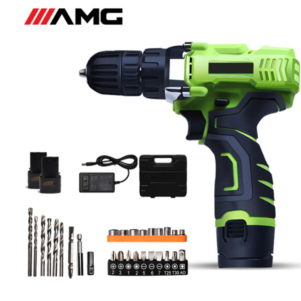 цена на 12V Rechargeable Electric Power Tools Mini Drill Dremel Household Double Speed Cordless Screwdriver Electric Tools Battery Drill