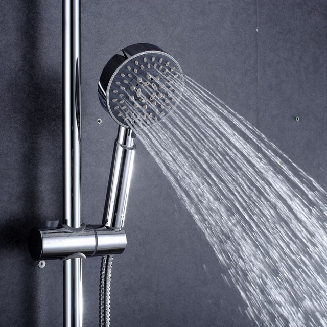 High Pressure Shower Head 5 Types Spray Patterns 105*240MM Water ...