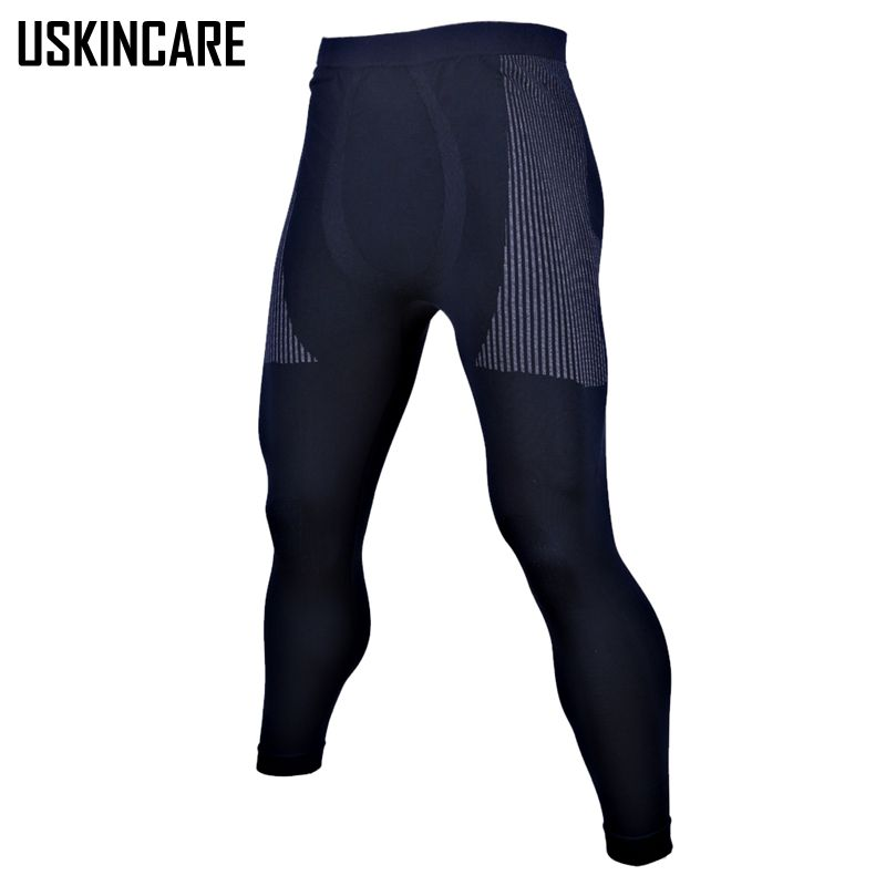 Men LeggingsSkin Compression Pants Base Layer Breathable Quick Dry Full Length Basketball Training font b Fitness