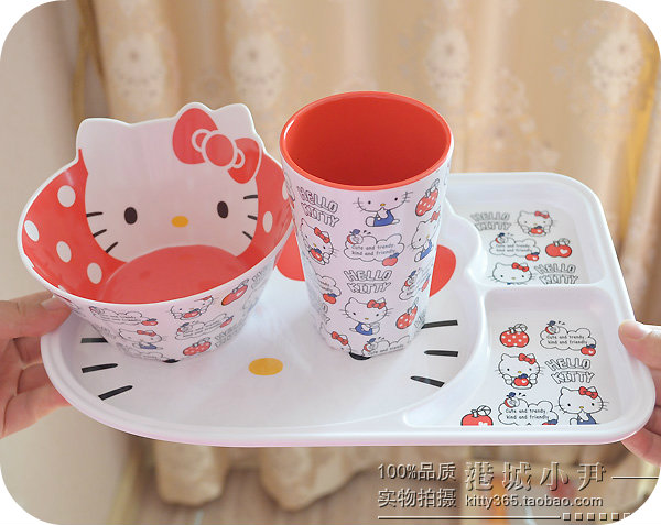 1 Pcs.Kitty Cat Children Advanced Melamine Tableware Strong Anti shock.Kids Imitation Porcelain Dinnerware.Gift.Table Decor-in Dinnerware Sets from Home ... & 1 Pcs.Kitty Cat Children Advanced Melamine Tableware Strong Anti ...