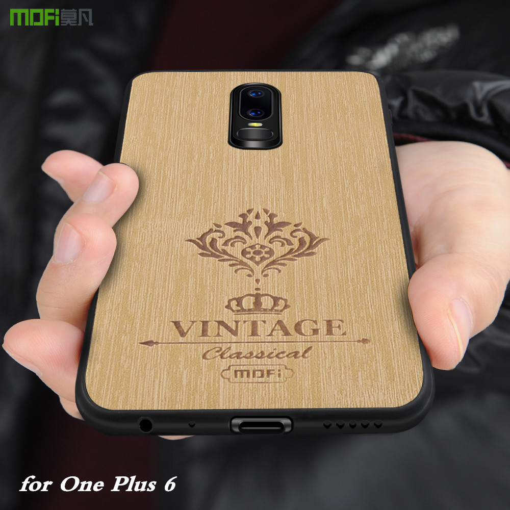 MOFi Original Back Case for One Plus 6 Hard Cover for 1+6 PU Leather Conque for Oneplus 6 Luxury Housing TPU PC