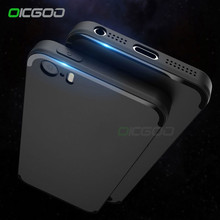 OICGOO Luxury Back Matte Soft Silicone Case for iPhone 5 5s SE Cases Back Full Cover For Apple iPhone 5S SE 5 Phone Case