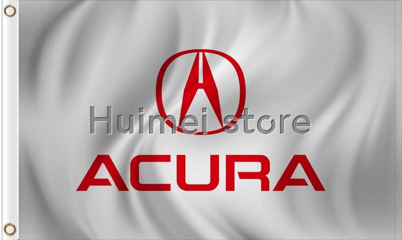 ACURA Logo Outdoor Car White Flag Ft X Ft ACURA Logo Flagin Flags - Acura symbol for car