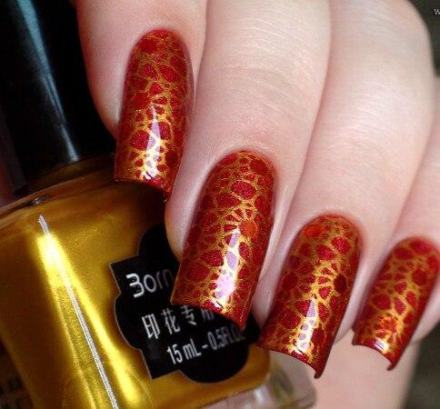 15ml Gold Born Pretty Stamping Polish Nail Art Stamp Print Polish