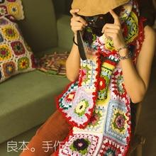 Handmade Crochet American Europe Winter Head Scarf Women's Polyester Shawls Scarves Crochet Cappa India Ladies Female Scarves