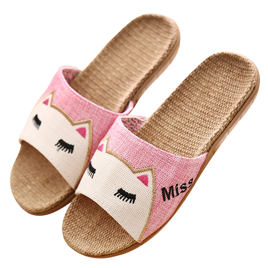 New 2017 Anti-slip Summer Indoor Slippers High Quality Flax Linen Home Shoes Boys Girls Breathable Casual Floor Slippers new sale linen slipper lover summer style floor nonslip breathable indoor slippers women shoes flax striped bedroom shoes