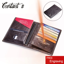 2020 kontakts prawdziwej skóry rocznika portfel etui na paszport podróży torba monety kiesy portfele na karty kredytowe dla mężczyzn marka projektant
