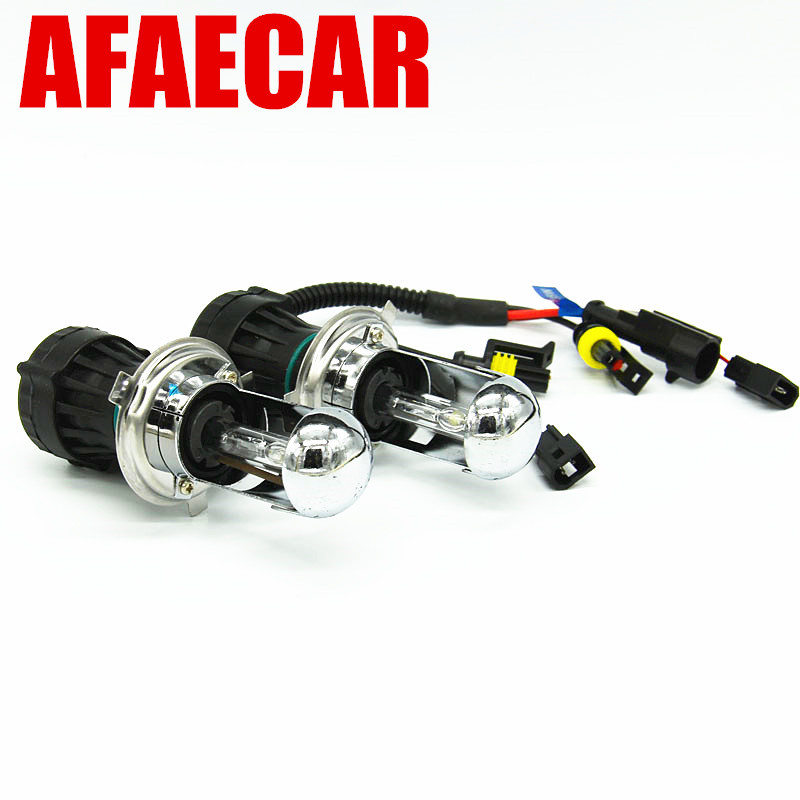 AFAECAR Bi-xenon kit HID Hi Lo lamps 35w 55w H4 Bi xenon bulbs 4300K 5000K 6000K 8000K 35w hid kit xenon h4 bi xenon h4 bixenon kit 4300k 5000k 6000k 8000k xenon kit hid conversion kit headlight bulbs