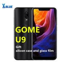 GOME U9 6GB RAM 64GB ROM Smartphone 6.18 inç çift SIM kart MTK Helio P23 Voiceprint parmak izi yüz tanıma 16.0MP telefon