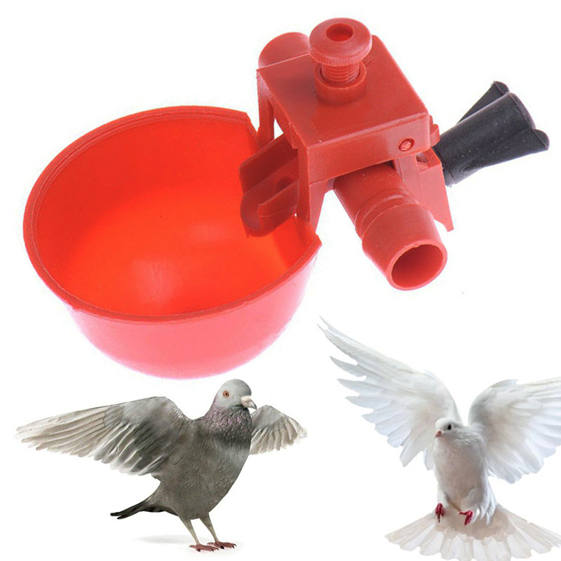 Automatic Bird Chicken Coop Feed Poultry Water Drinking Cups  Waterer Chicken Drinkers Fowl Aviary Feed Cup Cook Bowl