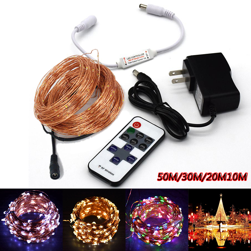 Z20 10M 20M 30M 50M 100M LED string Fairy light holiday decoration DC24V DC12V Waterproof outdoor light with controller