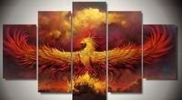 Art Abstract Original Indoor Decor Framed Phoenix Bird RIsing Print Canvas Poster Decoratio Print Canvas