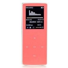 2017 Recién Llegado de Bluetooth Reproductor de MP3 con 8 GB y 1.8 Pulgadas de Pantalla 60 h Deportes jugador sin pérdidas de alta calidad grabadora de rosa