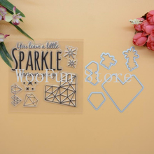 Sparkle Dies Cutting For Scrapbook DIY Photo Album Cards Transparent Acrylic Silicone Rubber Clear Stamps Sheet