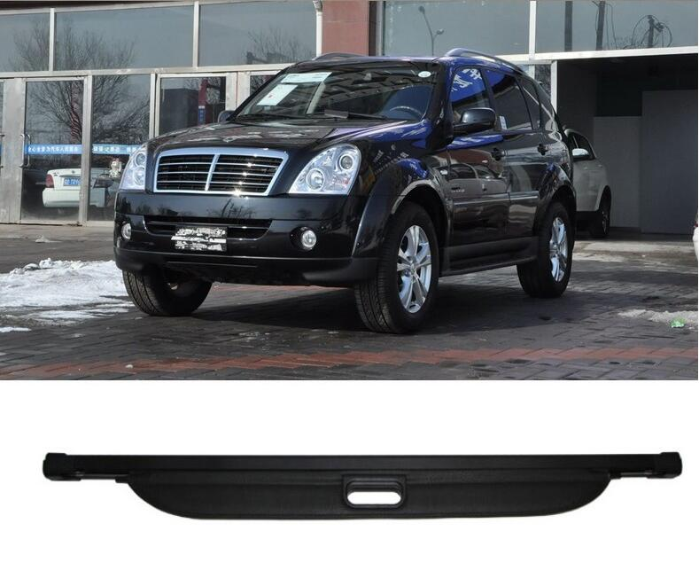 High Qualit Car Rear Trunk Cargo Cover Security Shield Screen shade Fit For Ssangyong Rexton II W 2008-2017  BY EMSHigh Qualit Car Rear Trunk Cargo Cover Security Shield Screen shade Fit For Ssangyong Rexton II W 2008-2017  BY EMS
