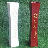 Wooden Vase Living Room Floor Decoration Flower Barrel Home Furnishing High 60cm Wood Vase Arrangement Crafts ZA6147