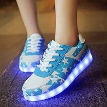 Мальчики девочки СВЕТОДИОДНЫЕ кроссовки Для Детей LED Случайные Дети Мода Загораются СВЕТОДИОДНЫЕ Светящиеся 11 Цветов Shoes 2017 Lumineuse Chaussures
