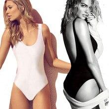 7 Colors Scoop Back Swimsuit swim suit for women 1 one piece swimwear backless monokini bathing wear female K128