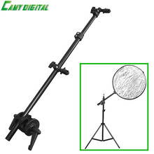 Skilled Studio Flash Equipment Studio Picture Holder Bracket Swivel Head Reflector Disc Arm Assist 26″-67″