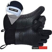 1 шт Длинные силиконовые кухонные перчатки-барбекю гриль перчатки термостойкие кулинарные перчатки для гриля рукавицы для микроволновой печи перчатки